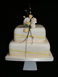 Cakes By Karen: Two tier Wedding cake