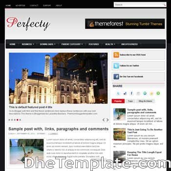Perfectly blog template. magazine blogger template style. magazine style template blogspot. 3 column footer blogspot template