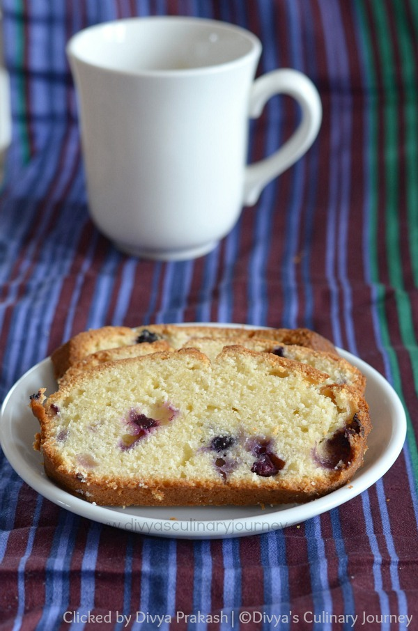 Quick Bread made with lemon zest and Blueberries