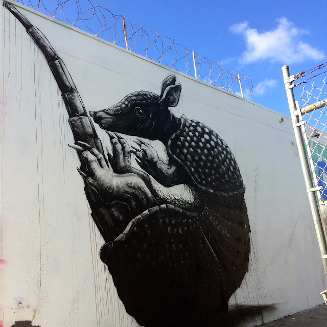 """Armadillo"" New Mural By Belgian Street Artist ROA in Miami For Art Basel 2013. 2"