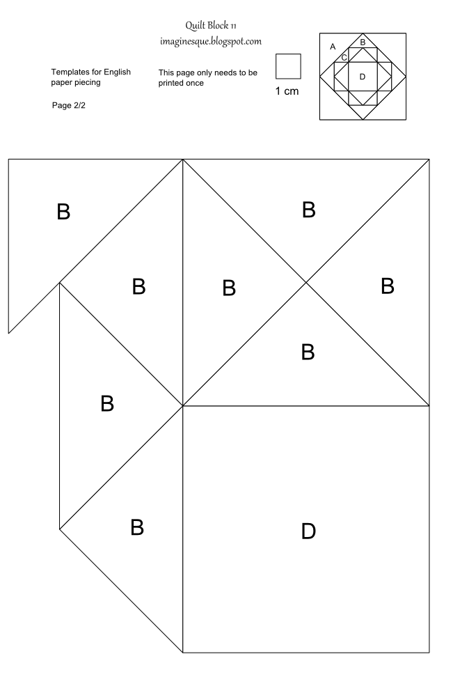 imaginesque  quilt block 11  pattern and template