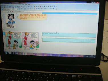 Trabalhando história em quadrinhos