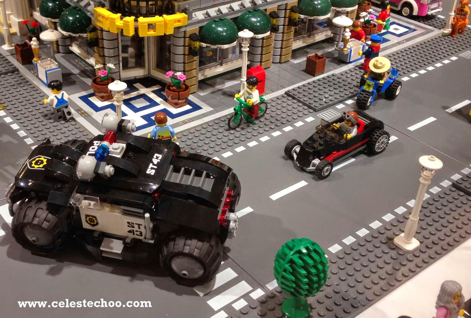 Police Car Toys For Boys : Celestechoo lego shop and model display in bangsar