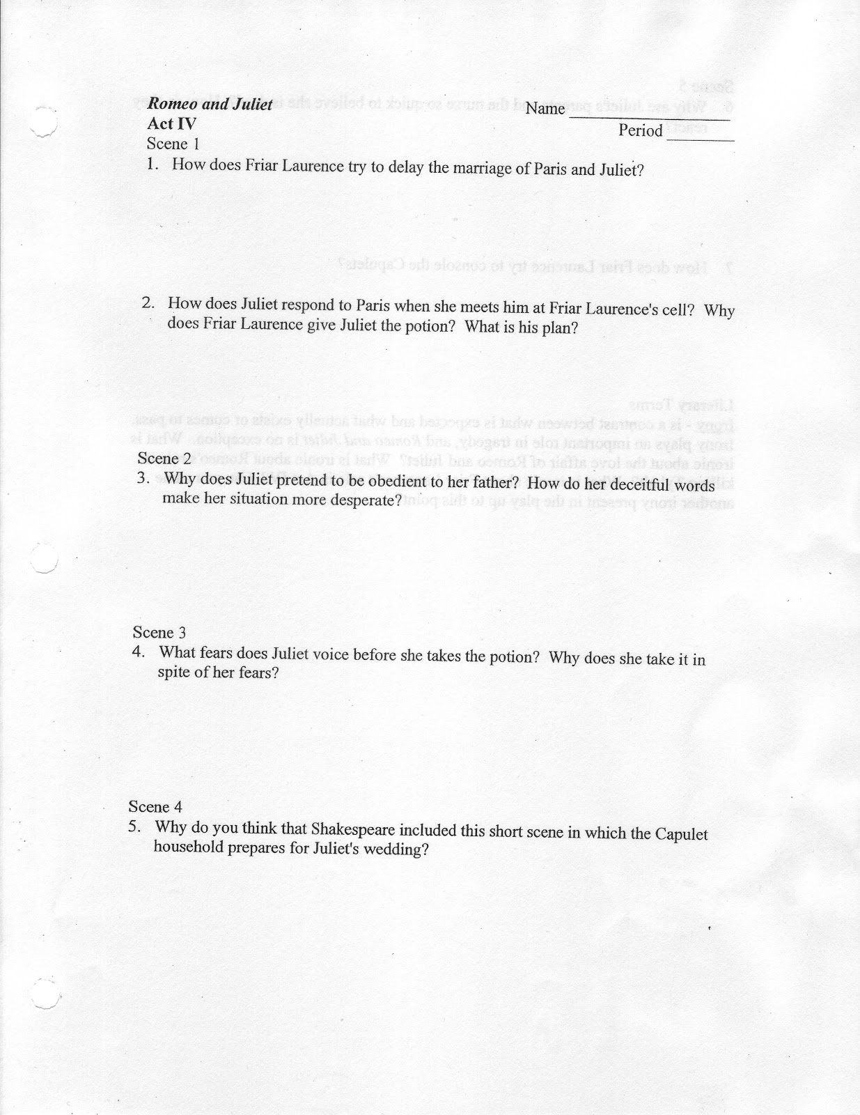 Stewies English Romeo And Juliet Act Iv Study Guide Romeo And Juliet Act Iv Study Guide