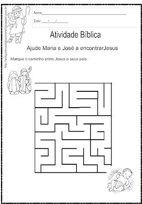 Atividade de labirinto - Jesus
