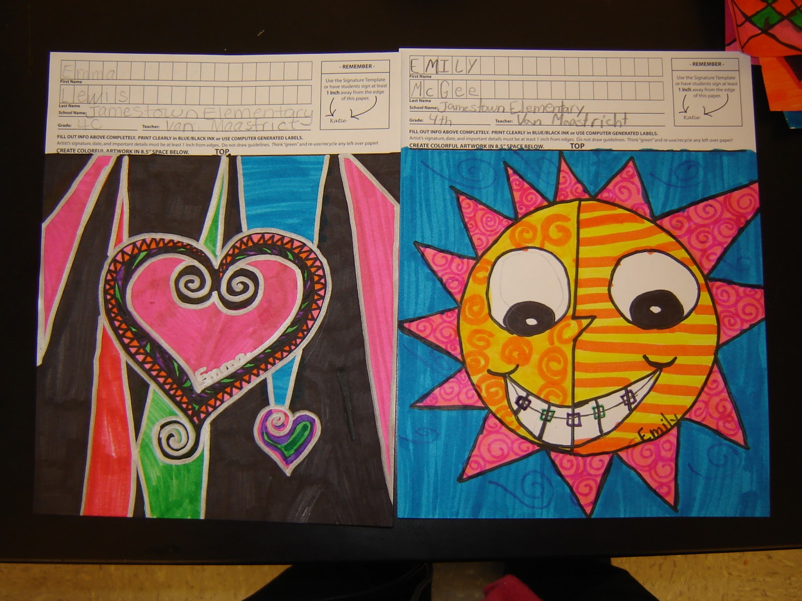 jamestown elementary art blog 4th grade square 1 art