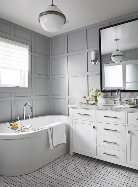 Bathroom Design Grey And White EDYTA CO INETERIOR DESIGN Timeless Bathroom Design