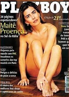 Maitê Proença - Total de exemplares vendidos: 720.000 - Mês da publicação: agosto/1996 No aniversário de 21 anos da revista, Maitê Proença ganhou uma capa de close do rosto. As fotos foram feitas na Sicília, Itália, se tornando um dos maiores clássicos da história da revista.