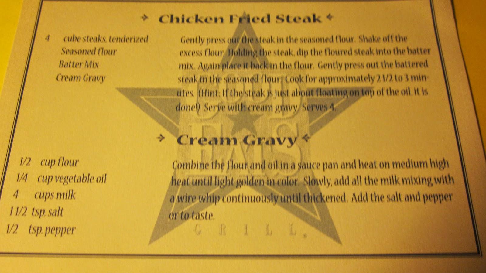 ... Vintage Recipes: GOOD EATS CHICKEN FRIED STEAK AND CREAM GRAVY