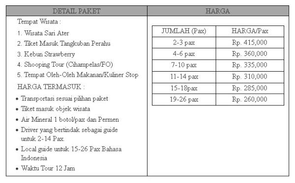 Paket Wisata Tangkuban Perahu, Ciater, Lembang Murah