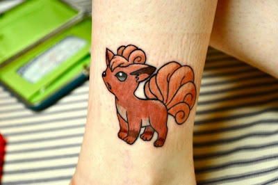 Vulpix Tattoo Design