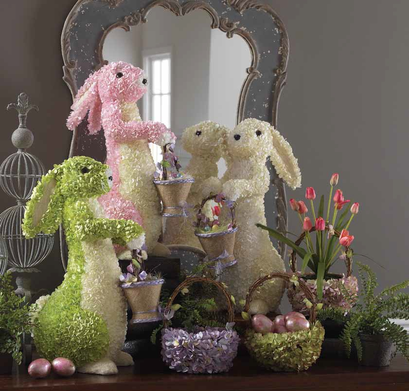 Shelley b decor and more new raz easter 2012 for Rabbit decorations home