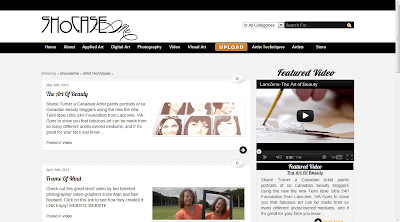 Video of Shane Turner Art for Lancome Canada featured on shocaseme.com