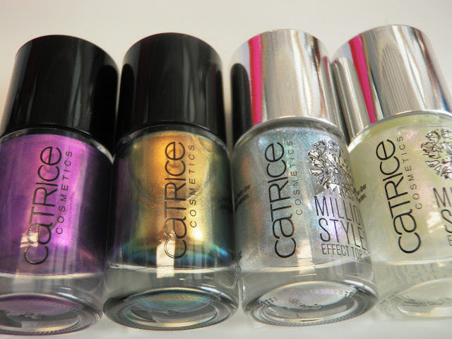 Review and swatches nail polish by Catrice Heavy Metallilac and Genius In The Bottle