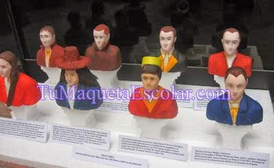 busto de los proceres y precursores de la independencia del perú