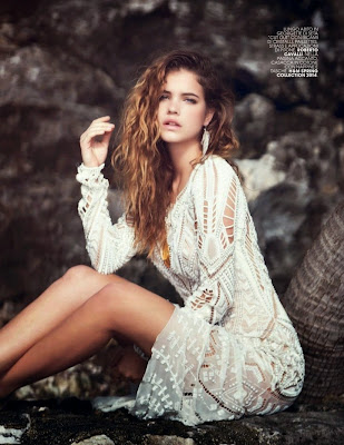 Barbara Palvin sultry fashion looks for Marie Claire Italy May 2014 photoshoot