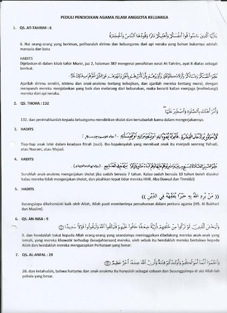 Peduli Pendidikan Agama islam Anggota Keluarga