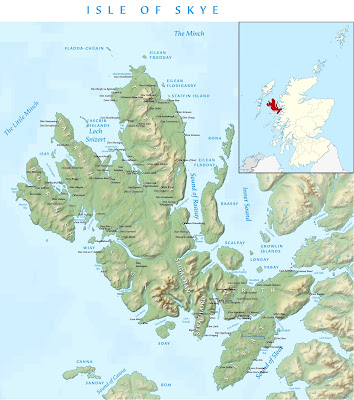 Campaign map of Skye, based on Wikipedia's topographical map