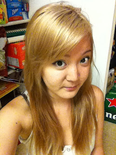 ... better picture. Nordic Blonde left me with a champagne beige blonde