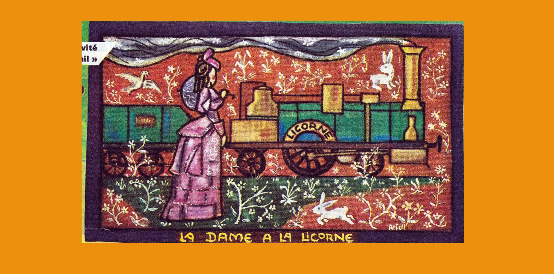 Imagerie du chemin de fer la dame la licorne petite - La tapisserie de la dame a la licorne ...