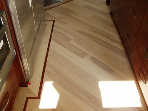 B e interiors face lift on the cheap part 1 Unstained hardwood floors