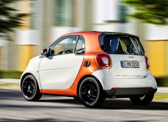 2016 Smart ForTwo back end