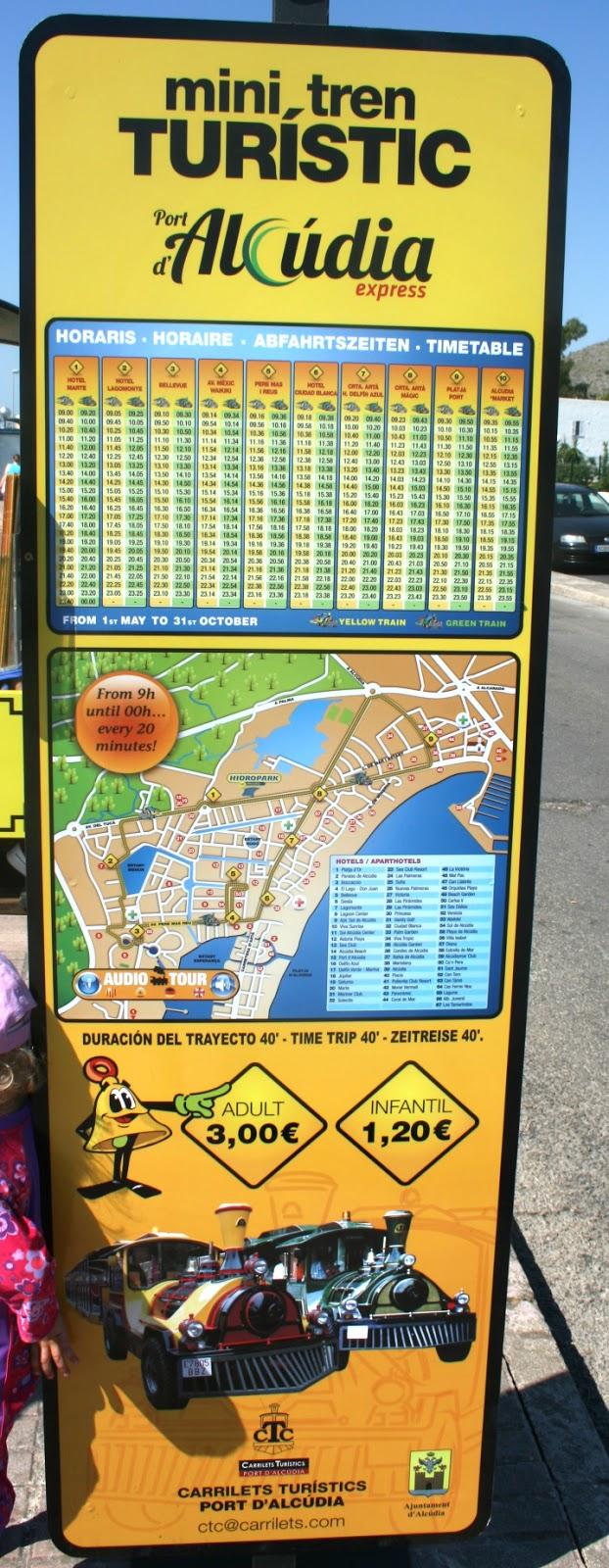 The HOT guide AlcudiaPollensa Puerto Alcdia Mini Tourist Train