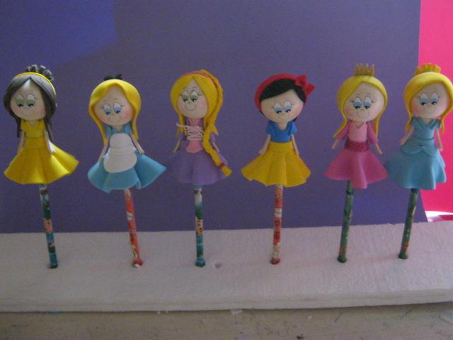 Patrones Fofulapices Princesas Disney