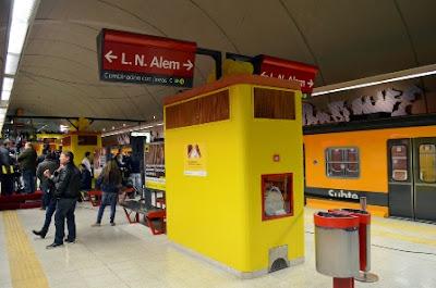 Estación Juan Manuel de Rosas línea B subterráneo Buenos Aires