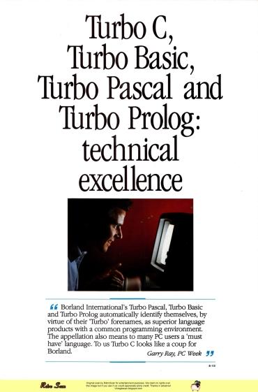 Borland Turbo Languages (1987)