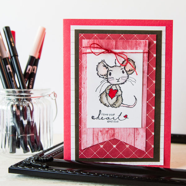 I Love Your Heart and Soul @createoften #unitystampco #stamp #diy #card #stampoftheweek