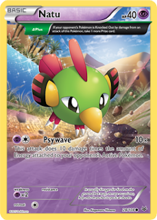 Natu Roaring Skies Pokemon Card