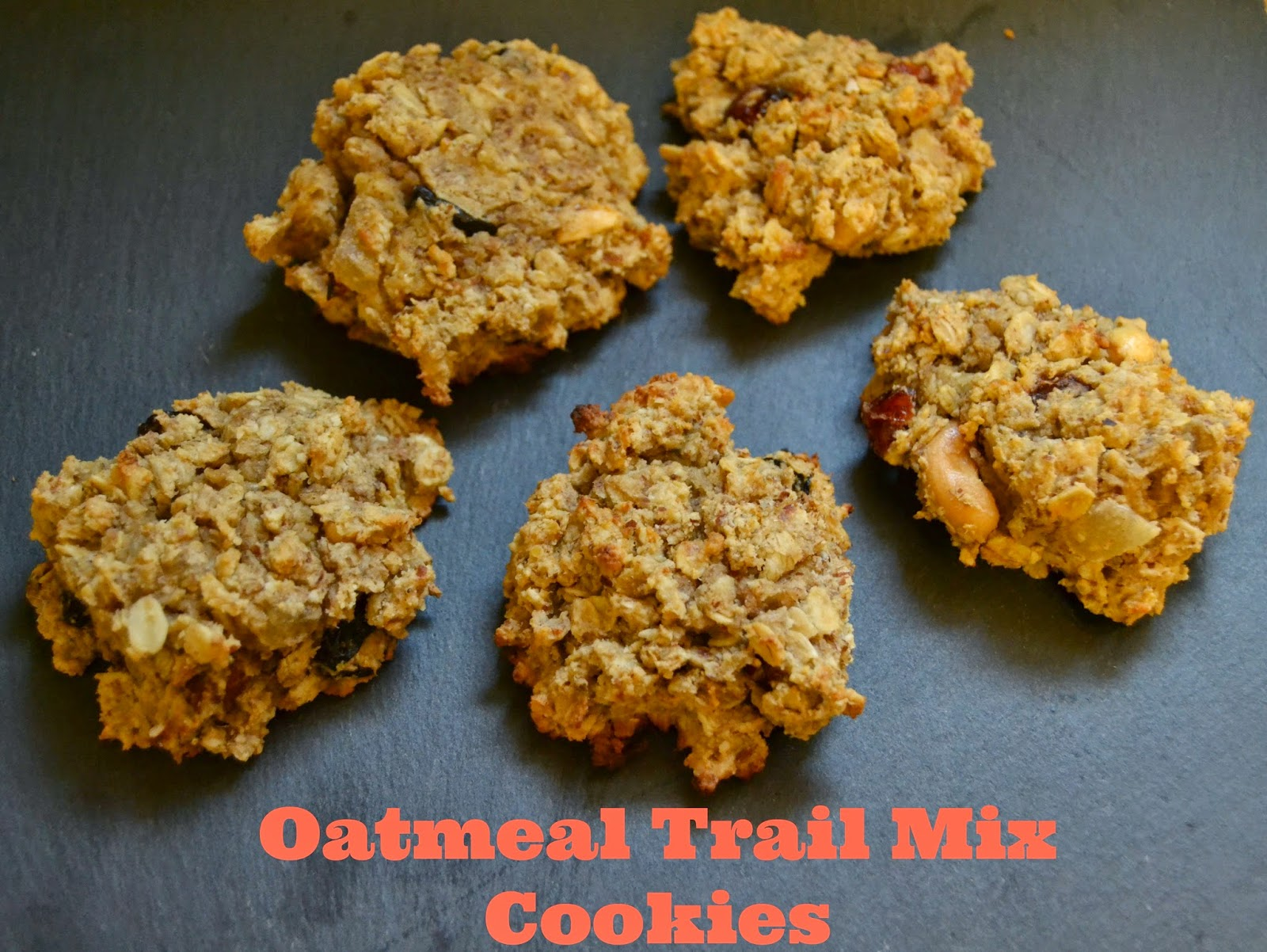 Oatmeal Trail Mix Cookies
