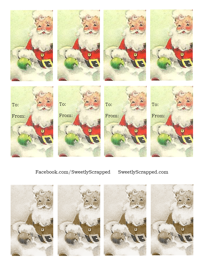 Sweetly Scrapped: Free printable christmas tags and mini cards