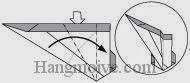 Bước 19: Từ vị trí mũi tên, mở lớp giấy trên cùng ra, kéo và gấp lớp giấy về phía bên phải.