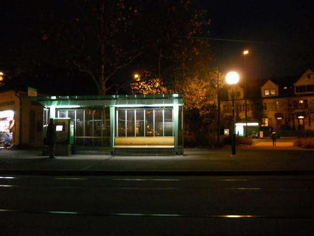 Bus stop in Basel Switzerland