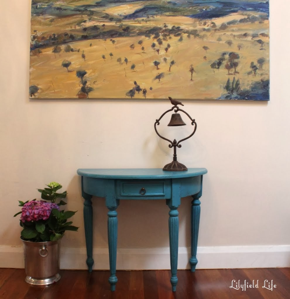 Superieur Painted Turquoise Hall Table Makeover