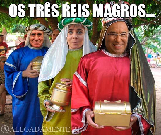 Imagem de António Costa, Catarina Martins e Jerónimo de Sousa - Os três Reis Magros…
