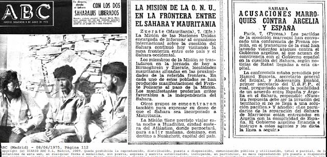 Efemérides : Misión ONU en Mauritania y acusaciones marroquíes contra Argelia y España