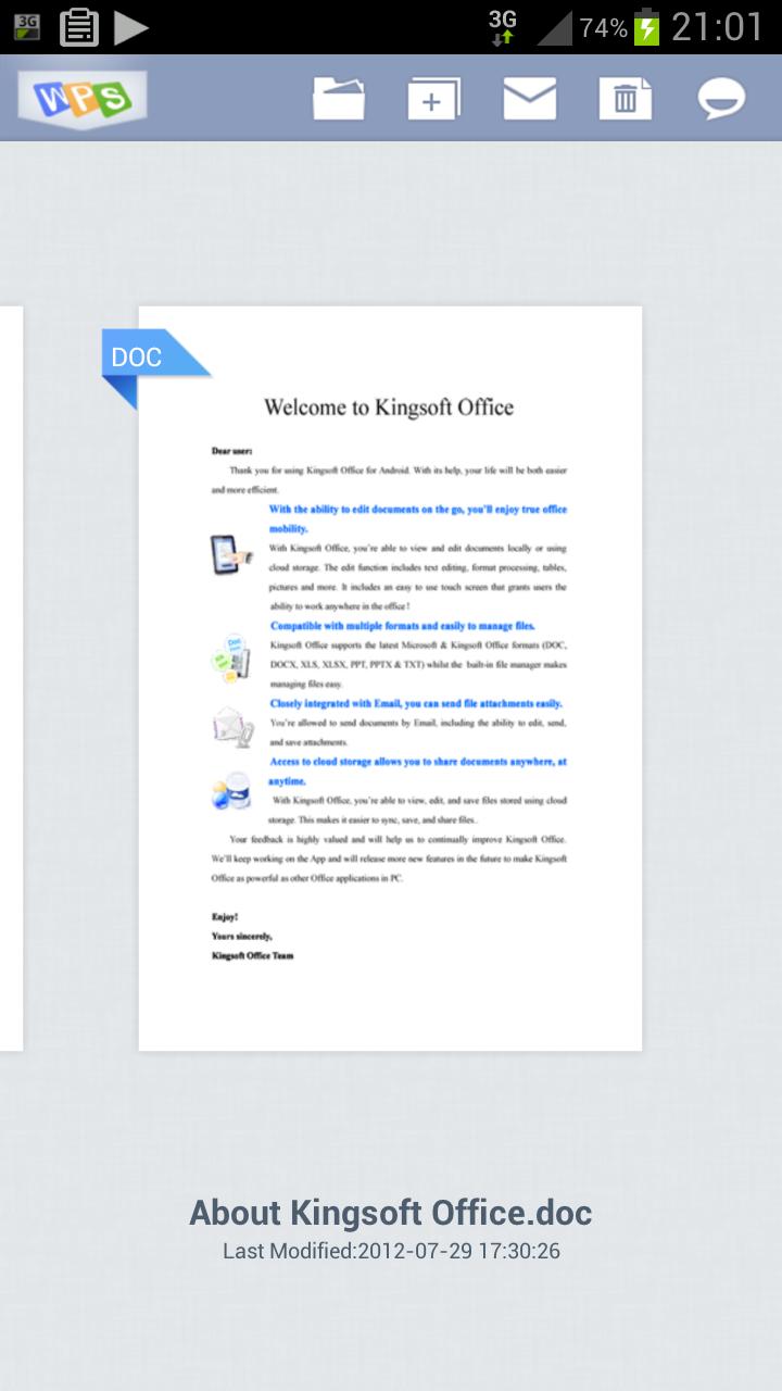 Mi Samsung Galaxy S3: KingSoft Office: análisis