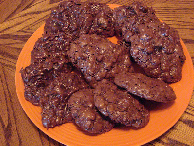 Flourless Chocolate Almond Coconut Cookies