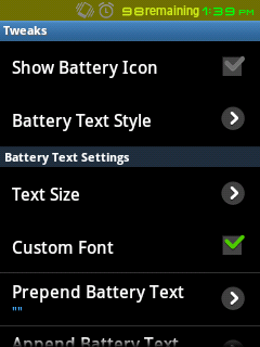 emanoN v6 - Battery Styles Settings