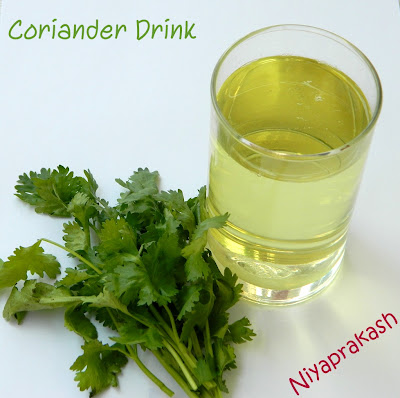 Coriander Drink - Good for health !!