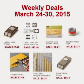 Weekly Deals Sale!  Mar 24 to 31