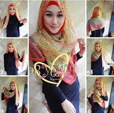 cara memakai hijab jilbab 01