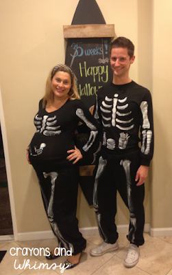 Halloween Pregnant Skeleton Costume