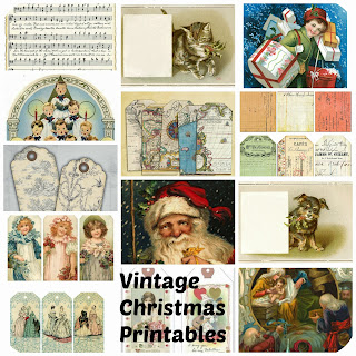 tinker tinker craft vintage christmas printables free downloads tags cards sheet music and paper dolls - Free Christmas Music Downloads