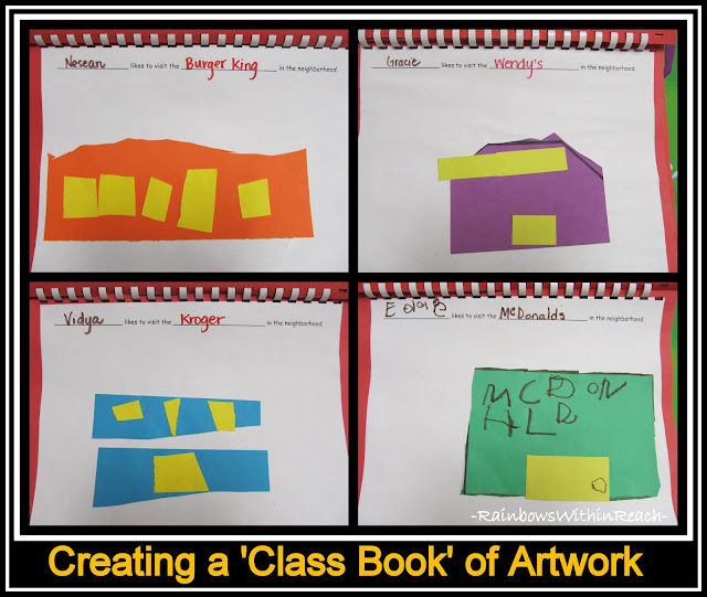 "photo of: Early Childhood Literacy: Creating a ""Class Book"" from Children's Art Projects with Simple Shapes"