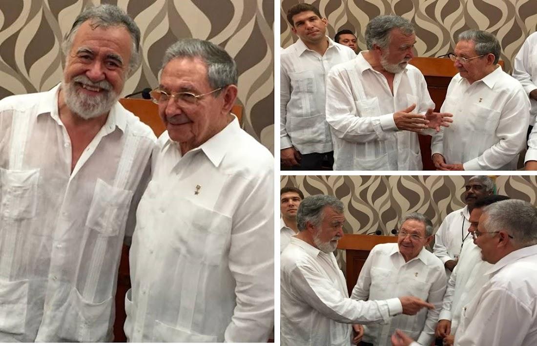 Con Raúl Castro Presidente de Cuba