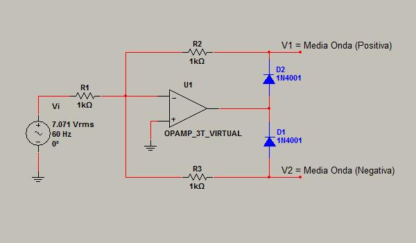 Circuito Rectificador De Media Onda : Electronica iii rectificador de media onda